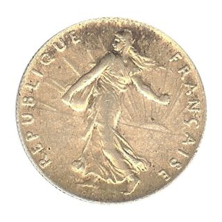 France - Iii Republic - 50 Centime 1913 Au photo