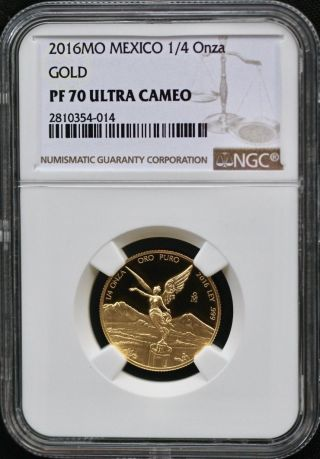 2016 Mexico 1/4 Ounce Gold Pf Libertad Ngc Pf70 - Listing Resumes At Ending Price photo