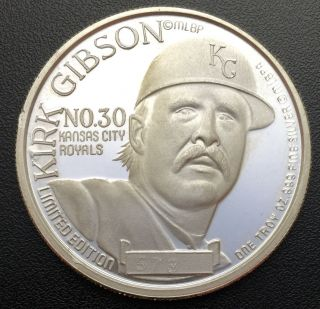 1988 Kirk Gibson National League Mvp 1 Oz.  999 Silver Coin Limited Edition (r50) photo