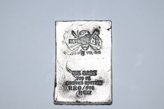 3 Oz Silver Mk Barz Pirate Skull Wafer.  999 Fine (limited Edition,  Jolly Roger) photo