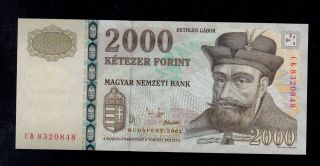Hungary 2000 Forint 2002 Cb Pick 190a Unc Banknote. photo