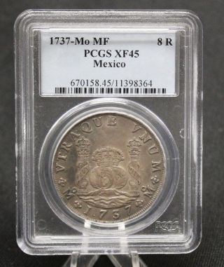 1737 - Mo Mf Pcgs Xf 45 Mexico 8 Reales (521) photo