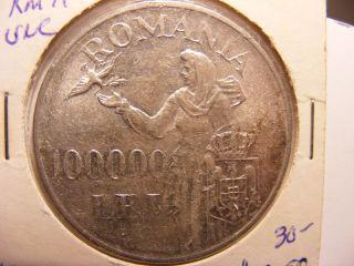 Romania Silver 100000 Lei,  1946,  Uncirculated photo