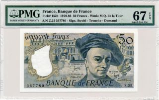 Banque De France France 50 Francs 1981 Pmg 67epq photo