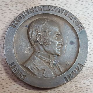 Huge George Wallace 100 Years Of Progress Silver Mining 1835 - 1935 Bronze Medal photo