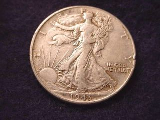 1943 Walking Liberty Half Dollar Coin - - 9025 photo