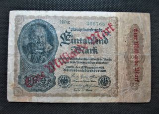 Old Bank Note Germany One Milliard Mark Banknote 1922 Hyperinflation - 366768 photo