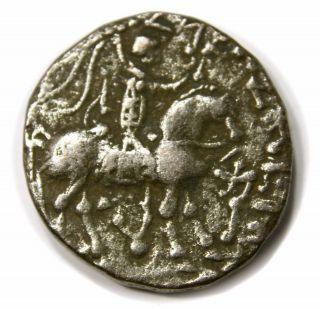Indo - Scythians,  Azes Ii,  Ar Tetradrachm,  35 - 5 Ad (21 Mm,  9.  59 Gm) photo