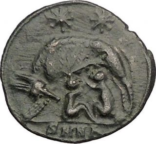 Constantine I Romulus Remus Twins She - Wolf Rome Commemorative Roman Coin I57397 photo