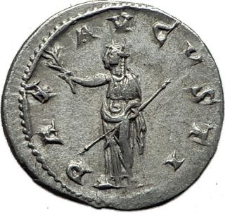Gordian Iii 238ad Rome Silver Authentic Ancient Roman Coin Pax I59127 photo