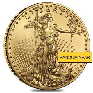 $5 1/10 Troy Oz.  American Gold Eagle Coin Random Years photo