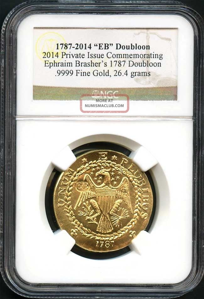 1787 2014 Gold Private Issue Commemorating Brasher S 1787 Doubloon Ngc 137392