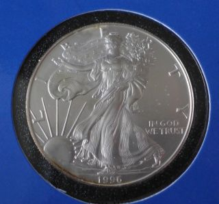 1996 1 Oz Silver American Eagle (brilliant Uncirculated) photo