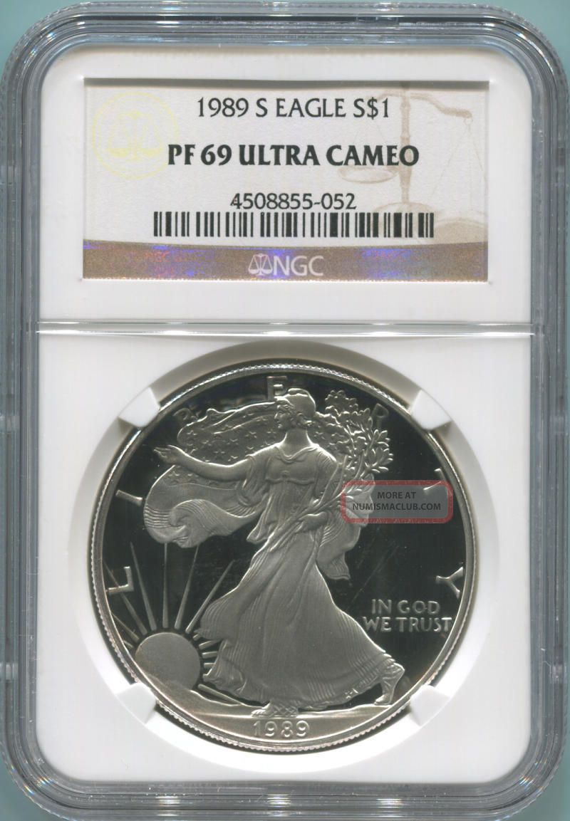 1989 S Proof Silver Eagle.  Ngc Pf69 Ultra Cameo Silver photo