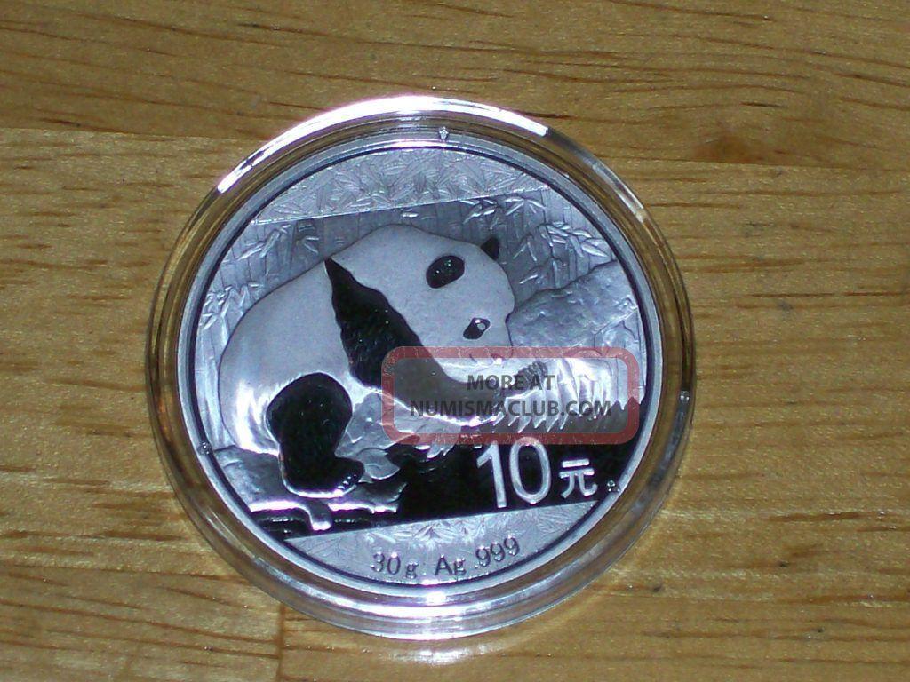 2016 30 Gram Chinese Silver Panda Coin Bu Silver photo