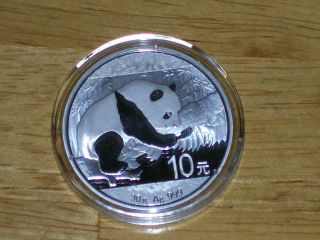 2016 30 Gram Chinese Silver Panda Coin Bu photo