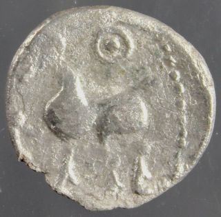 Eastern Celtic Silver Drachm,  Boier Tribe,  Bulge,  Horse,  2.  Century Bc photo