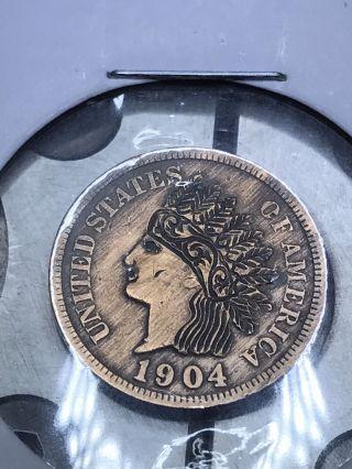 Coin Art Hobo Nickel Gypsy Woman 12 photo