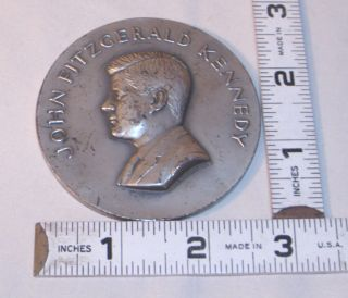 John F Kennedy Jfk Sterling Silver Medallic Arts Large Medal 5.  53 Oz.  1961 photo