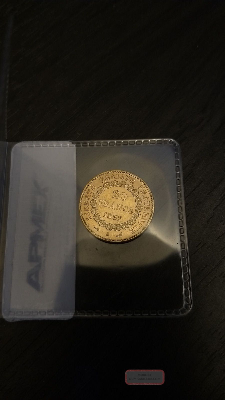 Gold French 20 Francs Angel (bu) Coin France photo