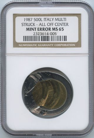 1987 Italy 500 L Multi - Struck Ngc photo