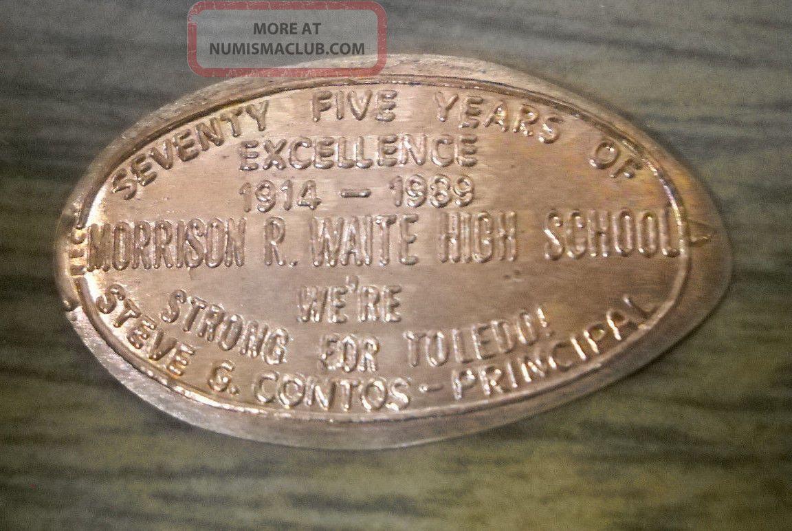 Morrison R Waite High School Elongated Penny Toledo Oh Usa Cent Souvenir Coin Exonumia photo