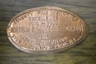 Morrison R Waite High School Elongated Penny Toledo Oh Usa Cent Souvenir Coin photo