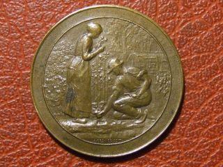 Art Nouveau Agriculture Floriculture Medal By Alphonse Desaide photo