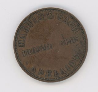 Australia Nd Penny Token Coin Martin & Sach Adelaide Km Tn160 photo