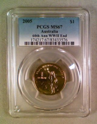 2005 Australia $1.  00 Dollar Pcgs Ms67 photo
