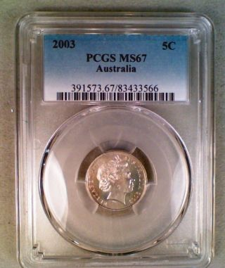 2003 Australia 5 Cents Pcgs Ms67 photo