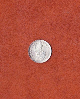 1946 Switzerland - Silver 1/2 Half Franc Coin - Helvetia Symbolizes Swiss photo
