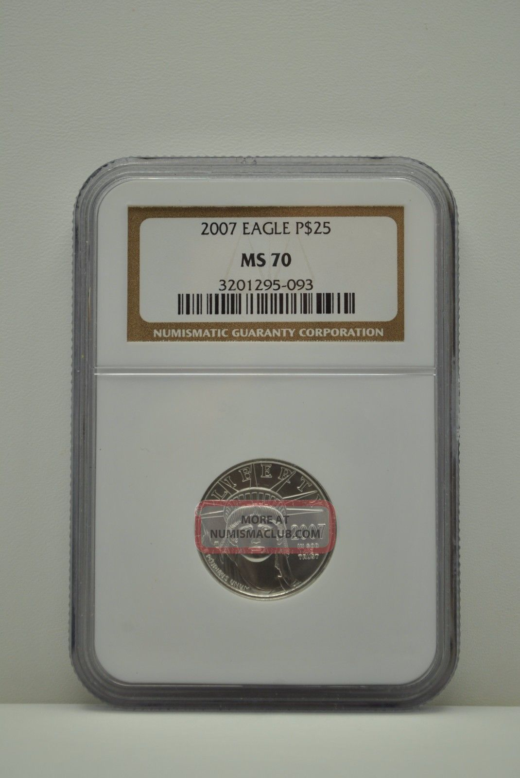 2007 Ms 70 Ngc $25 American Platinum Eagle Platinum photo
