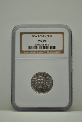 2007 Ms 70 Ngc $25 American Platinum Eagle photo