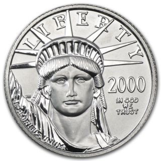 Year 2000 $25 Platinum Eagle 1/4 Oz Statue Of Liberty Coin photo