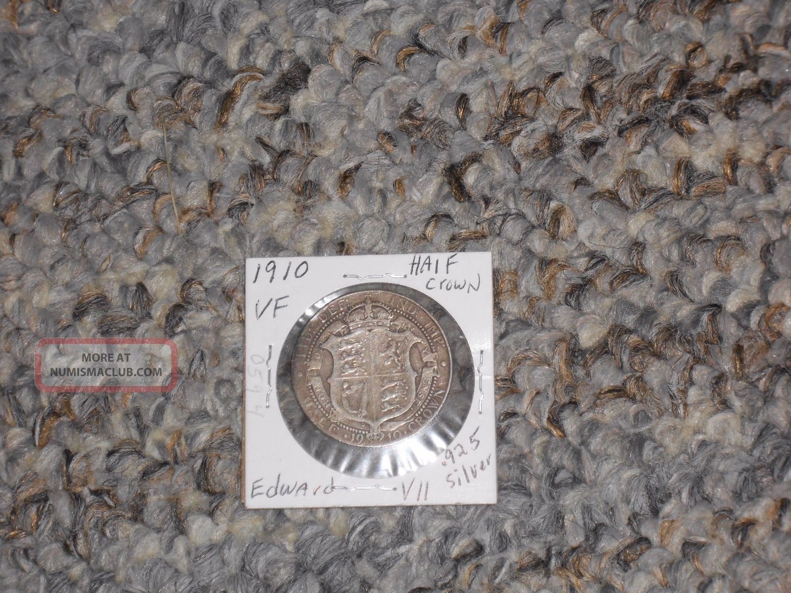 1910 Great Britain Uk Edward Vii.  925 Silver Half Crown Vf No Problem UK (Great Britain) photo