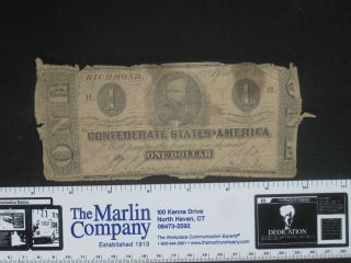 Csa,  $1.  00,  T71,  Kealinge & Ball,  Columbia,  Sc,  Series 2 photo