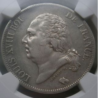Ngc - France - Luis Xiii - 5 Francs - 1822a - Xf Details,  Surface Hairlines photo