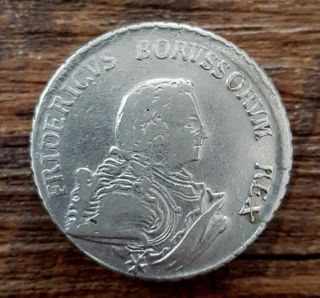 Brandenburg - Preußen,  Germany,  Friedrich Ii,  1/2 Thaler 1750 A,  Silver Coin photo