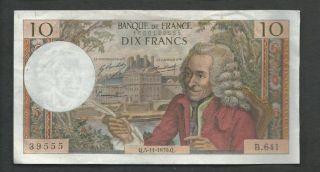 France 1970 10 Francs P 147c Circulated photo