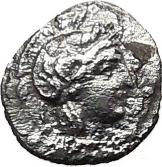 Tarsus In Cilicia Obol Athena Baaltars Ancient Silver Greek 4thcenbc Coin I36607 photo