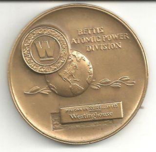 Pittsburgh,  Pa.  Westinghouse Corp.  - Bettic Atomic Power Division Bronze Medal photo