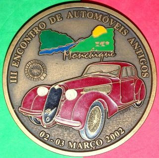 Italian Car / Alfa Romeo 8c - 1931 - 1939 / Enamel Bronze Medal photo