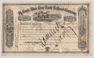 St.  Louis,  Alton And Terre Haute Railroad Company.  1867.  Charles Butler. photo