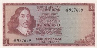 South Africa 1 Rand Banknote 1966 (p - 109a) Unc photo