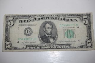 1950 $5 Federal Reserve Note.  Cleveland,  Usa.  Five Dollar Bill Old Fiver Still photo