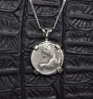 Thrace Chersonesos Authentic Silver Hemidrachm Coin 925 Sterling Silver Necklace photo