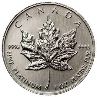 Random Date Canada 1 Troy Oz.  9995 Platinum Maple Leaf $50 Coin Sku33491 photo