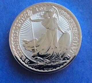 2017 Great Britain 2 Pound 1 Troy Oz.  999 Silver Britannia,  Royal British photo