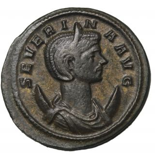 Severina 274 - 275 Ad Wife Of Aurelian Antoninianus Ancient Roman Coin Ric.  4 photo